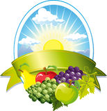 Het etiket van het fruit Stock Foto's