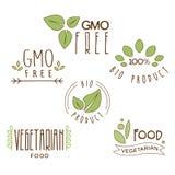 Het Etiket van het gluten Vrije, Natuurlijke Product Royalty-vrije Stock Afbeeldingen