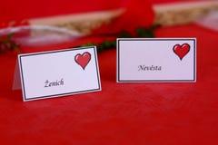 Het etiket van het huwelijk Stock Afbeelding