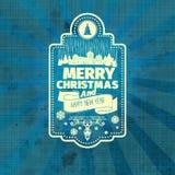 Het etiket van het Kerstmiskenteken Royalty-vrije Stock Fotografie