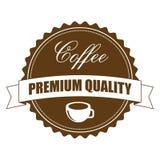 Het Etiket van het koffieteken, Vectorillustratie Stock Foto