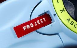 Het Etiket van het project Royalty-vrije Stock Foto