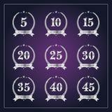 Het etiket van het verjaardagskenteken Royalty-vrije Stock Afbeelding