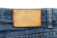 Het etiket van jeans Stock Fotografie