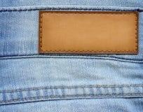 Het etiket van jeans Royalty-vrije Stock Foto