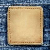 Het etiket van jeans Royalty-vrije Stock Foto's