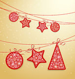 Het etiket van Kerstmis Stock Fotografie