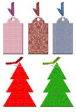 Het etiket van Kerstmis in uitstekende stijl. Royalty-vrije Stock Fotografie