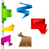 Het Etiket van Origamii Royalty-vrije Stock Foto's