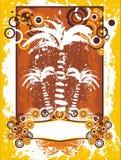 Het etiket van palmen royalty-vrije illustratie