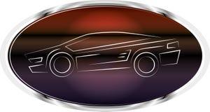 Het etiketembleem van de sportwagen Royalty-vrije Stock Foto's