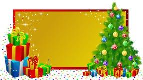 Het etiketgiften van Kerstmis Stock Afbeelding