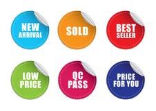 Het etiketprijs van de sticker Stock Foto's