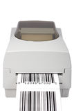 Het etiketprinter van de streepjescode stock fotografie