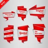 Het etiketreeks van het origamiontwerp Royalty-vrije Stock Afbeeldingen