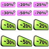 Het etiketreeksen van de verkoop stock illustratie