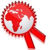 Het etiketspatie van Certicate van de wereld vector illustratie