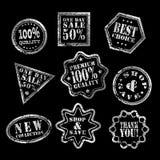 Het etiketwit van de één dagverkoop Stock Afbeelding