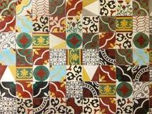 Het etnische Decor betegelt Muur Stock Foto