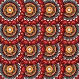Het etnische naadloze patroon van boho bloemenrozetten Royalty-vrije Stock Fotografie