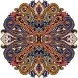 Het etnische ornament van Paisley Royalty-vrije Stock Afbeeldingen