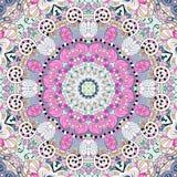 Het etnische ornament van Tracerymehndi Onverschillig discreet kalmerend motief, bruikbaar doodling kleurrijk harmonisch ontwerp  Stock Afbeelding