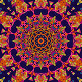 Het etnische ornament van Tracerymehndi Onverschillig discreet kalmerend motief, bruikbaar doodling kleurrijk harmonisch ontwerp  Royalty-vrije Stock Fotografie