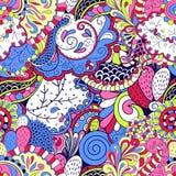 Het etnische ornament van Tracerymehndi Onverschillig discreet kalmerend motief, bruikbaar doodling kleurrijk harmonisch ontwerp  Stock Foto's