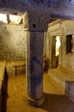 Het Etruscan-necropool van Cerveteri, Binnenlands van het graf Royalty-vrije Stock Foto