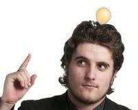 Het eurekaogenblik dat door lightbulb wordt betekend Royalty-vrije Stock Afbeelding