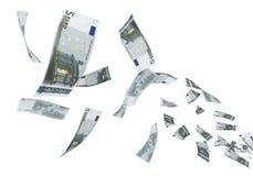 5 het euro bankbiljetten vliegen royalty-vrije illustratie