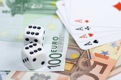 Het euro gokken Royalty-vrije Stock Afbeeldingen