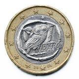 Het euro muntstuk van Griekenland Stock Foto