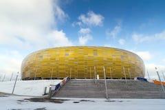Het euro stadion van de Kop 2012 in Gdansk Stock Foto