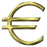 Het euro Symbool van de Munt Stock Afbeeldingen