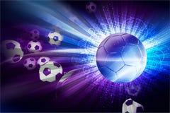 Het euro Thema van de Voetbal Stock Afbeeldingen
