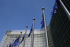 Het Europees Parlement in Brussel Stock Afbeeldingen