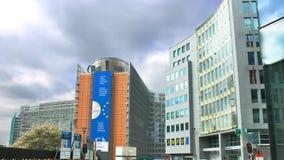 Het Europees Parlement in Brussel Stock Foto