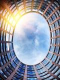 Het Europees Parlement de bouw Straatsburg, Frankrijk Stock Foto's