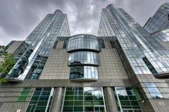 Het Europees Parlement Gebouwen - Brussel, België stock foto