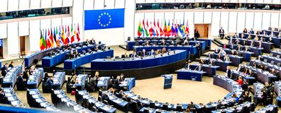 Het Europees Parlement in Straatsburg royalty-vrije stock fotografie