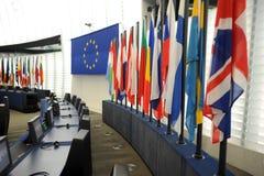 Het Europees Parlement Straatsburg Stock Fotografie