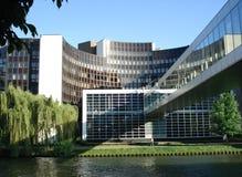 Het Europees Parlement in Straatsburg Stock Afbeelding