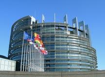 Het Europees Parlement in Straatsburg Royalty-vrije Stock Afbeelding