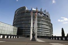 HET EUROPEES PARLEMENT IN STRAATSBURG stock afbeeldingen