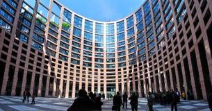 Het Europees Parlement, Straatsburg, Frankrijk Stock Fotografie