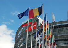 Het Europees Parlement van Straatsburg Royalty-vrije Stock Foto's