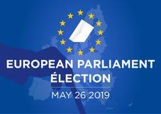 2019 het Europees Parlement verkiezing vector illustratie