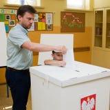 Het Europees Parlement verkiezing, 2014 (Polen) stock afbeeldingen