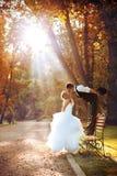 Europese bruid en bruidegom Stock Afbeeldingen